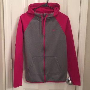 Nike Fleece Zippered Hoodie.